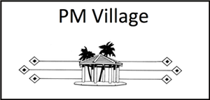P M Village logo