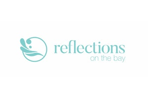 Reflections on the Bay Retirement Village logo