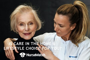 Live it up with NurseWatch | Premium on demand Wellness and Care Packages in and out of home whenever you need them logo